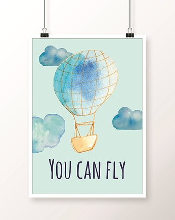 Plakat / YOU CAN FLY blue A4
