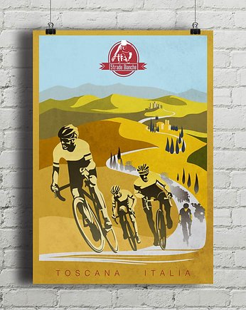 Strade Bianche - plakat rowerowy