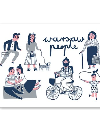 LOVE POLAND DESIGN, Magnes WARSAW PEOPLE 63x90mm