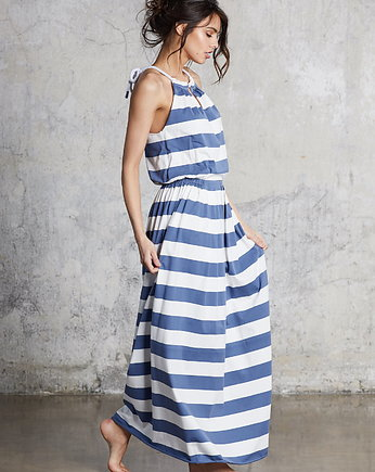 bawełniane, MAXI DRESS Stripes
