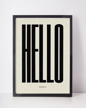 plakat | hello goodbye | 50x70