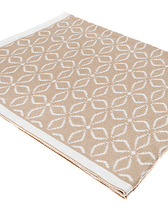 Kocyk Just Great! Flowerbed, Beige