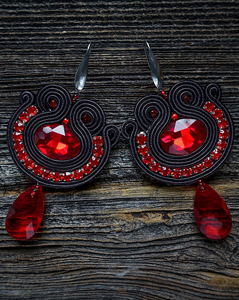 Mrosoutache, Flamenco collection- BLANCA- kolczyki