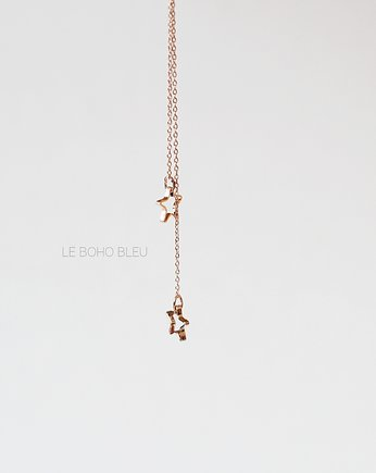 Rose Gold Plated 2 Little Stars Necklace