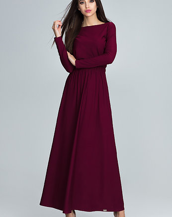 Red Pear, Sukienka maxi m604 bordo