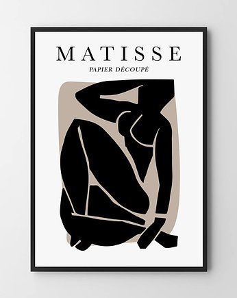 obraz do salonu, Matisse black - plakat