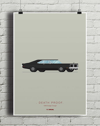 auto, Death Proof - Dodge Charger - plakat