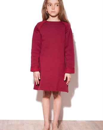 sukienka bordowa, Pine Neckline Kids • Bordo