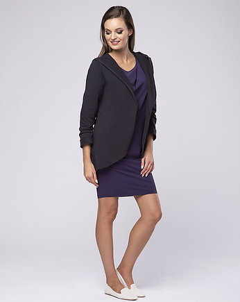 Bluza z kapturem Softy LOOK 169 bakłażan
