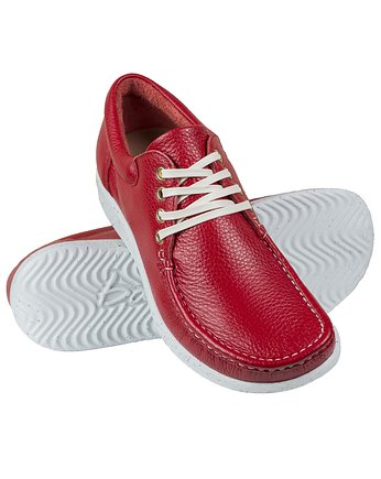 Bara made by Wama Polen, Full-Grain Red Moccasin