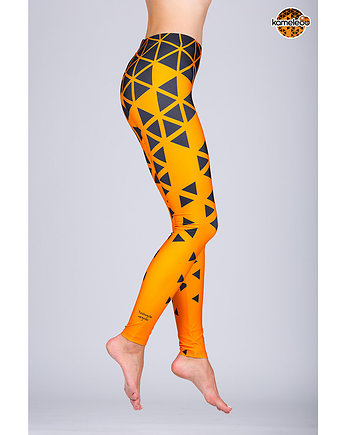 Legginsy Triángulo Negroo High - Orange