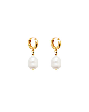 pozłacane kolczyki, Pearl Earrings no.7