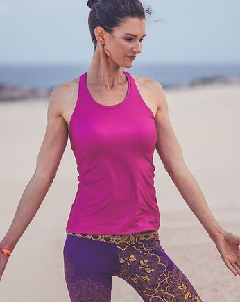 yoga, Bright Boho Tank Top Pink