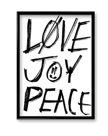 Love joy peace - plakat