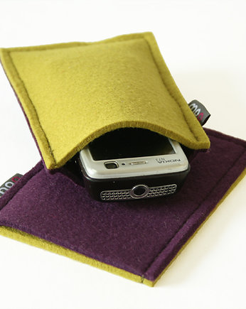 moo studio, Iphone Etui Lime&Violet