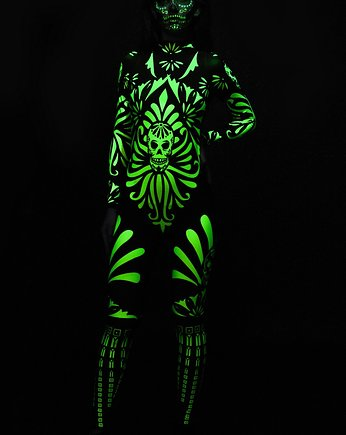 dirrtytown clothing, Kostium na Halloween - Fluo Mexican Skull
