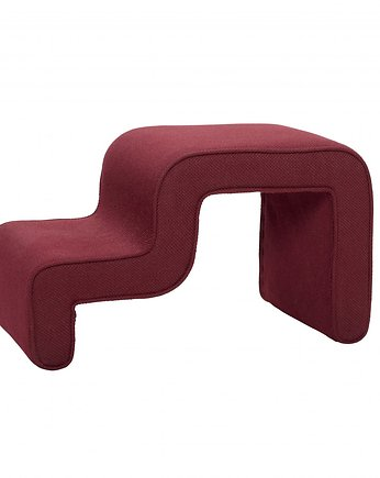 Home Design, Puf, siedzisko Irregular Red, 42x72x40 cm