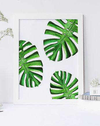 "Plakat ""Monstera"" format A4"