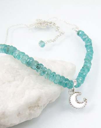 Amade Studio, Moon charm necklace with apatite