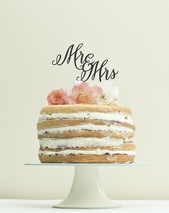 tort, Napis na tort, cake topper Mr & Mrs