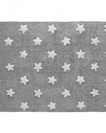 Dywan Grey Stars White Lorena Canals