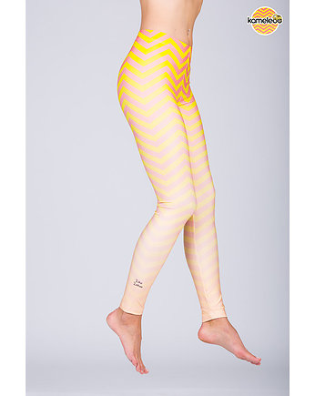 Legginsy Ziko Zakoo High - Peach