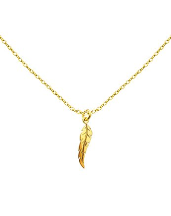 handmade, Gold Feather - Łańcuszek