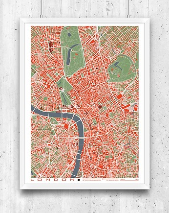 London - plan miasta, plakat
