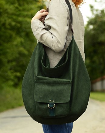 alkantara, Hobo Pocket Green