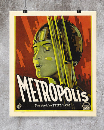 Poster Gallery Wall, Vintage movie poster Metropolis 2
