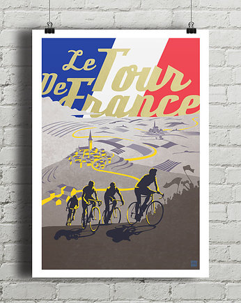 rower, Tour de France - plakat rowerowy