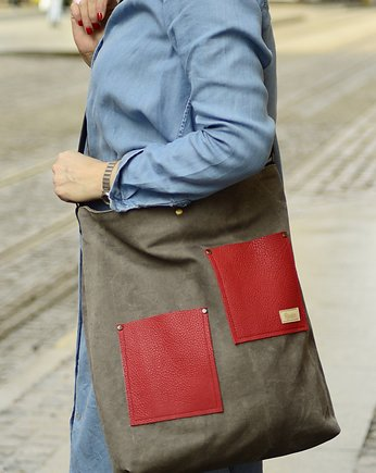Shopper Brown&Red