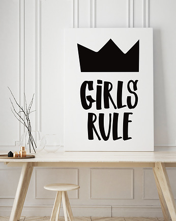 Girls rule black  - plakat
