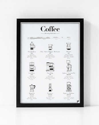 Follygraph, Coffee Brewing Methods - plakat 30x40