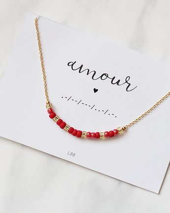'AMOUR' Morse Code Necklace
