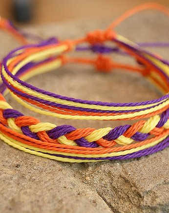 SHEandHE, Zestaw - dark purple, orange and yellow