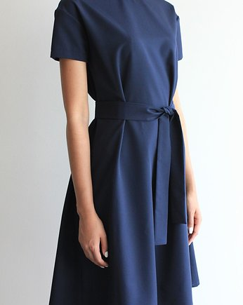 navy, Sukienka CHARMING DRESS SHORT DEEP NAVY