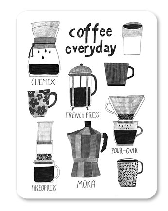 LOVE POLAND DESIGN, Magnes COFFEE EVERYDAY 63x90mm