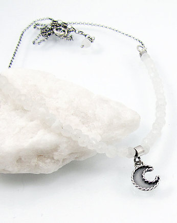 Amade Studio, Moon charm necklace with moonstone