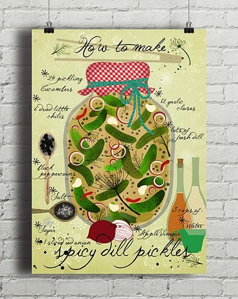 Spicy Pickles - plakat kuchenny art giclee