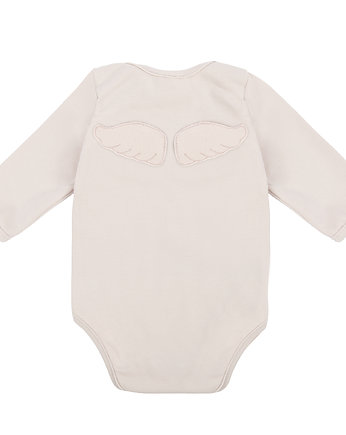 body niemowlęce WINGS LONG SLEEVE LIGHT PINK