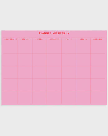 planer, Planner miesięczny A4, Pink & Red