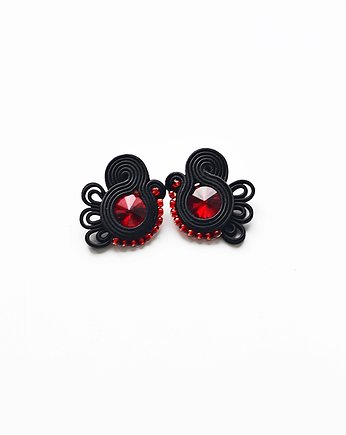 bizuteria autorska, Flamenco collection- Sevilla- kolczyki Soutache