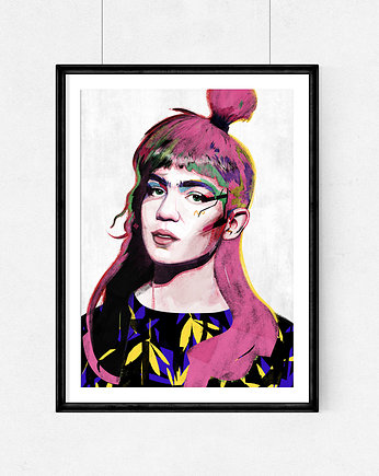 Grimes -  A4 illustrations art Giclée print