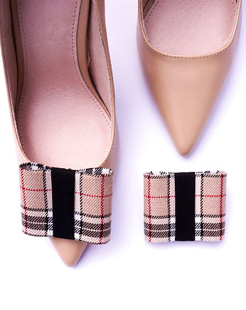 Klipsy do butów Coquet FLAT / A'la Burberry