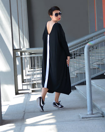 momo fashion, NOWE TUNIKA MAXI BLACK Oversize