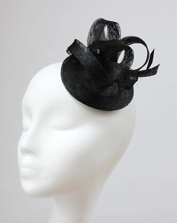 hat, Fascynator black