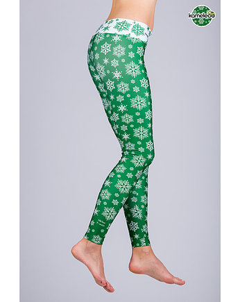 Christmas, Legginsy Helloo X-Mas - Green