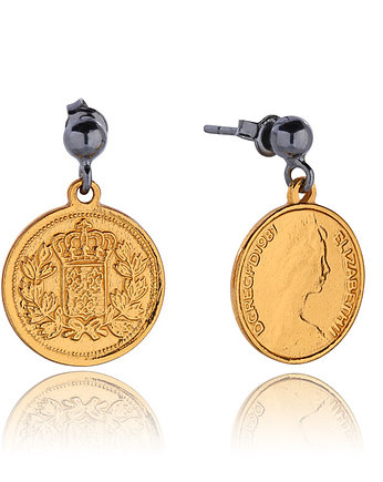 delikatne, Royal Coin Earrings in Gold