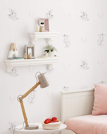 humptydumptyroomdecoration, Tapeta dziecięca Rabbits